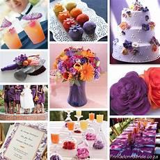 your wedding support get the look orange purple themed wedding