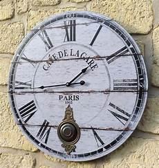 style ancienne grande horloge pendule murale ronde a