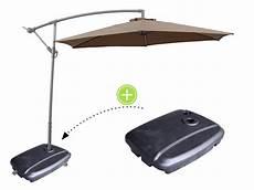 pied parasol deporte parasol d 233 port 233 en aluminium quot ilios quot rond 216 3 m