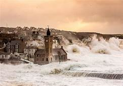 UK England Sea Church Town Storm Wallpapers HD