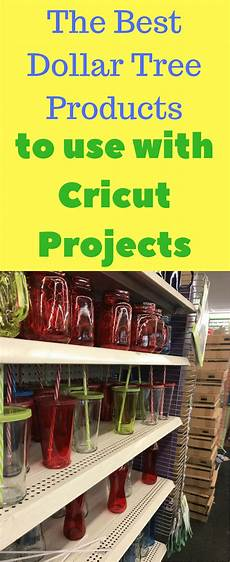 Home Decor Cricut Craft Ideas by Best Dollar Store Products To Use For Cricut Projects