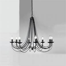 franklite fl2173 8 philly 8 light black chandelier