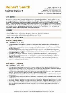 electrical engineer resume sles qwikresume