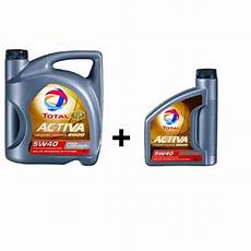 huile moteur total activa 9000 5w40 diesel 5 l 2 l