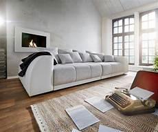 big sofa hellgrau big sofa violetta 310x135 creme hellgrau mit 12 kissen