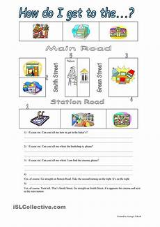 giving directions worksheets esl 11669 asking the way angielski