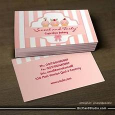 business card templates studio pink milky cupcake bakery business cards