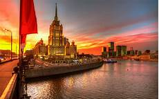 Moscow City Wallpaper For Iphone by Moscow Russia At Sunset Hd Wallpaper Background Image