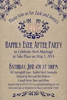 Post Wedding Celebration Invitation