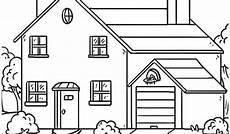 Ausmalbilder Haus 315 Kostenlos Malvorlage Haus Mit Garten