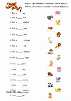 abc animals practice english worksheets for kindergarten english grammar for kids english