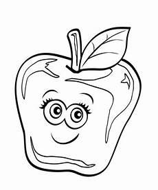 Kostenlose Malvorlagen Gesichter Obst Und Gem 252 Se Kostenlose Malvorlage Apfel Mit Lustigem
