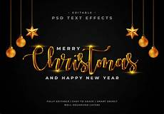 merry christmas text style effect template premium psd file