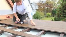wpc dielen verlegen ohne unterkonstruktion verlegung trex wpc terrassendielen 3 minuten