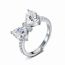 korean cute bow shape s925 sterling silver engagement ring engagement ring
