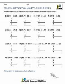 adding and subtracting money worksheets grade 4 2790 subtracting money worksheets uk money