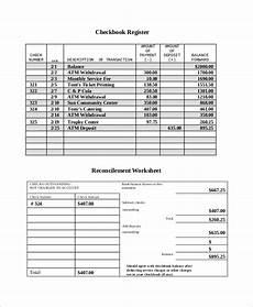 sle check register 8 exles in word excel pdf