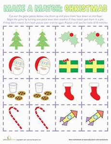 christmas worksheets and games christmas matching game worksheet education com