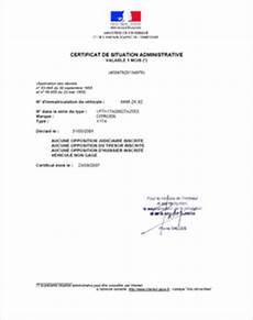 Route Occasion Certificat De Situation Administrative Non