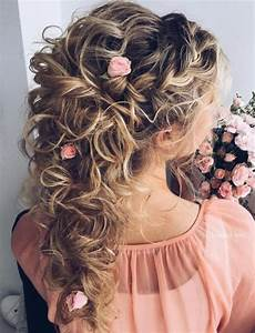 20 soft and sweet wedding hairstyles for curly hair 2020