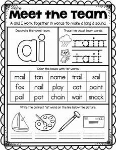 ship shape first grade vowel teams