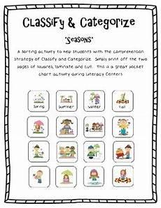 classify and categorize worksheets 5th grade 7970 classify categorize seasons by kari webb teachers pay teachers