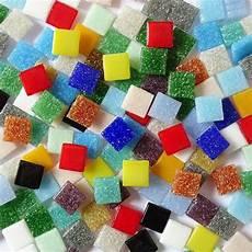 mosaique en verre pate de verre multicolore 10mm x 10 mm