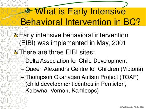 Early Intensive Behavioral Intervention