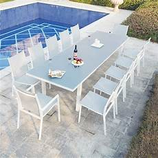 Ensemble Table De Jardin Extensible En Aluminium Moniga 12