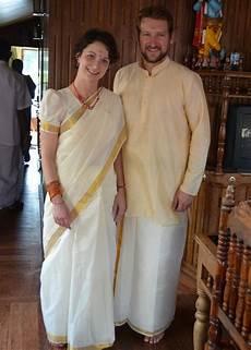 traditional kerala attire raxa collective couple in customary attire of kerala onam saree types