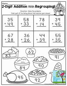 regrouping addition 2nd grade 2 digit addition with regrouping so many printable sheets
