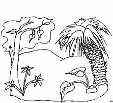 malvorlagen landschaften gratis und original baum und palme ausmalbild malvorlage landschaften