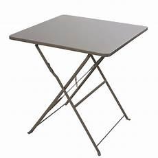 table pliante 2 personnes table de jardin pliante en m 233 tal taupe 2 personnes l70