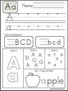 free alphabet letter a writing practice preschool