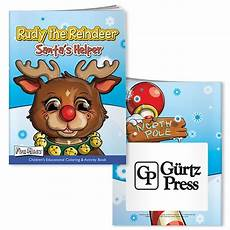 bic graphic coloring book with mask rudy reindeer