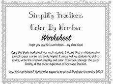 decimal simplification worksheets 7290 simplify fractions color by number worksheet by bingham s bunch