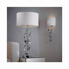 endon lighting rothko wbch 1 light metal chrome white shade wall light endon lighting from