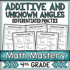 additive angles and finding unknown angles worksheets by
