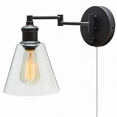 wall light electric kit globe electric company adison 1 light plug in industrial wall sconce with hardwire conversion