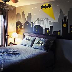 gotham city with batman light wall decal
