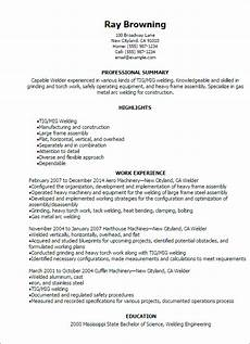 welder resume template best design tips myperfectresume