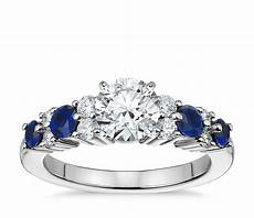 garland sapphire and diamond engagement ring in platinum blue nile