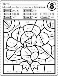 thanksgiving math multiplication color by number worksheets by heuer