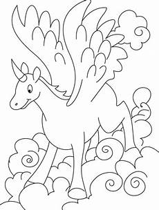 Malvorlagen Wings Unicorn Seen A With A Horn On Its Nose And Wings