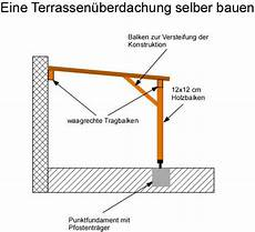 terrassenüberdachung selber bauen anleitung eine terrassen 252 berdachung selber bauen