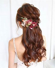 Curly Half Up Wedding Hairstyles
