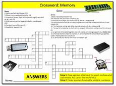 computer memory crossword puzzle sheet ict computing