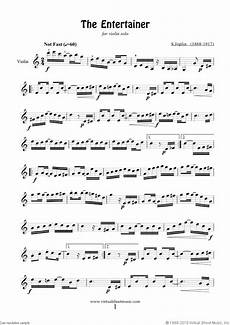 free joplin the entertainer sheet music for violin solo pdf