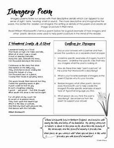 poetry imagery worksheet 25307 imagery in poetry activity by addie williams teachers pay teachers