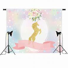 7x5ft Unicorn Flowers Photography Backdrop by 7x5ft Unicorn Ribbon Flowers Baby Shower Custom